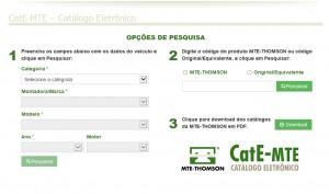 tela CAT e MTE 300x177 - MTE-THOMSON LANÇA CATÁLOGO ELETRÔNICO